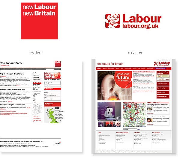 Labour Partei Neues Logo Relaunch