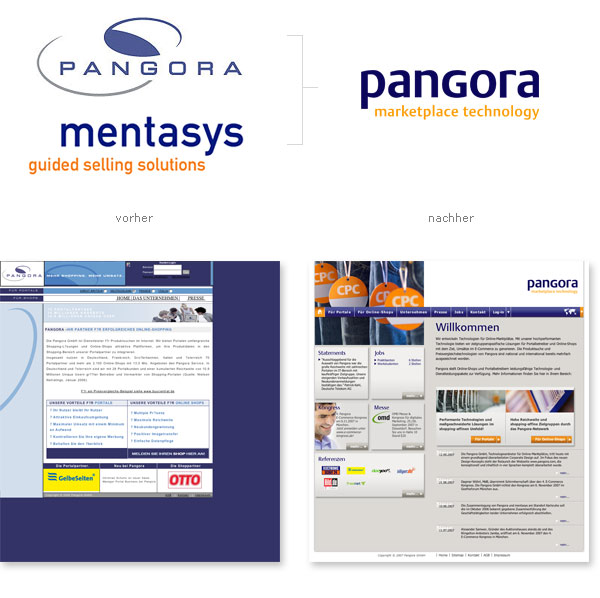 Relaunch Corporate Design Pangora