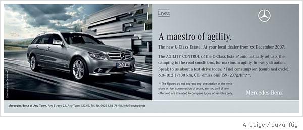 Mercedes Benz Anzeige