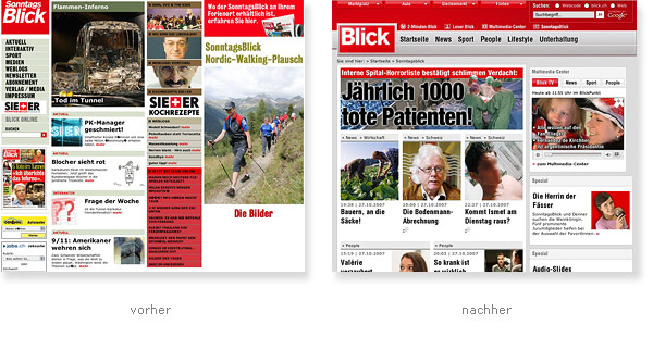 Blick Boulevardzeitung Relaunch