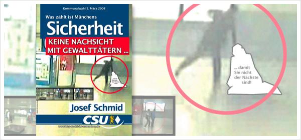 CSU-Wahlplakat Sicherheit Schmid