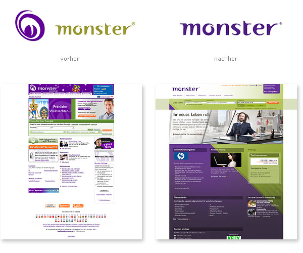 Monster.de Logo Website