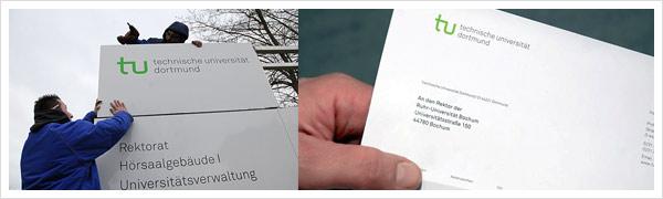 TU Uni Dortmund Briefpapier