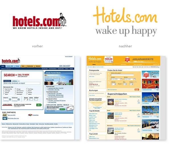 Hotels.com Relaunch