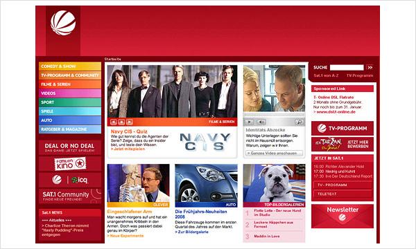 Sat.1 Website