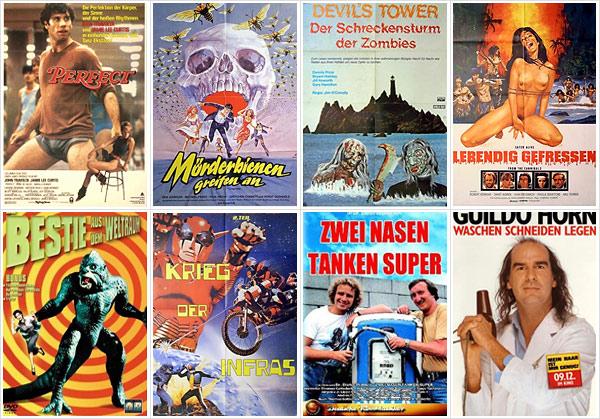 Gruselige Filmplakate