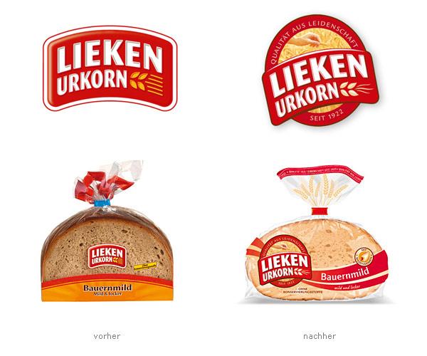 Lieken Urkorn Verpackungsdesign Logo