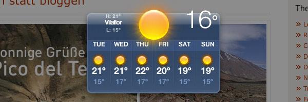 Wetter Teneriffa