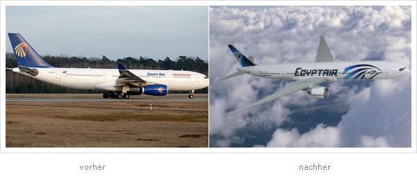 Egyptair Flugzeug Design