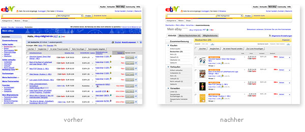 eBay Betaversion Relaunch
