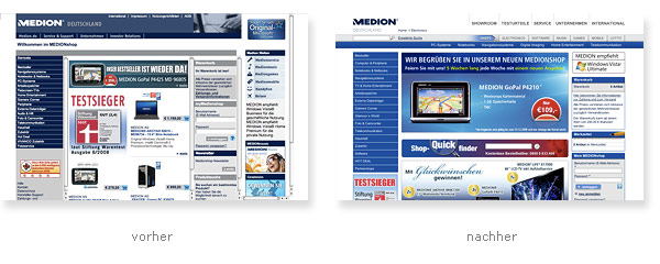 Medion Shop Relaunch