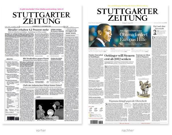 Stuttgarter Zeitung Redesign