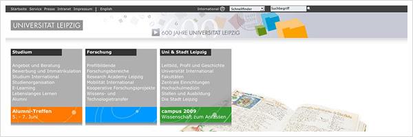 Uni Leipzig Relaunch