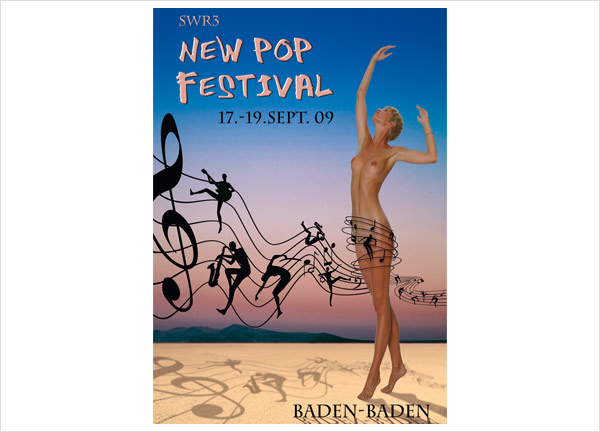 Plakat zum New Pop Festival 2009