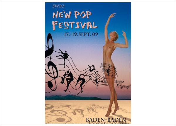 Plakat zum New Pop Festival 2009