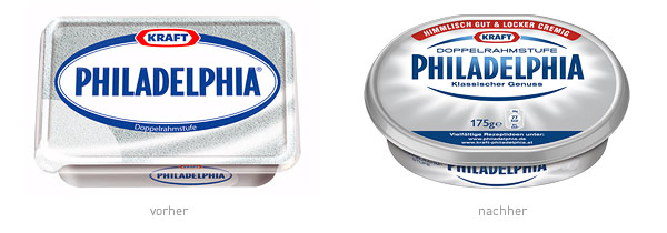 Philadelphia Verpackungsdesign