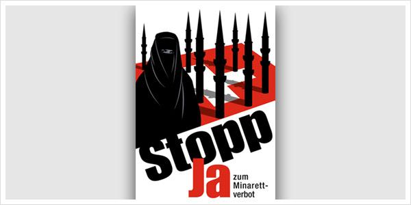 Anti-Minarette-Plakat