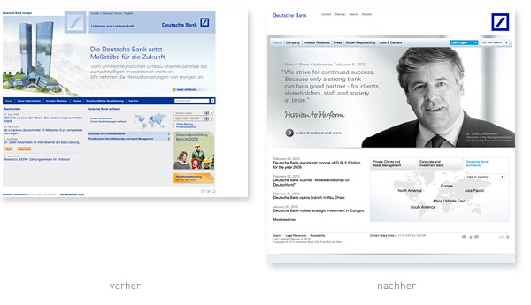 Deutsche Bank Gruppe Relaunch
