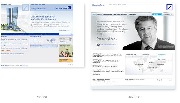 Deutsche Bank Gruppe Relaunch