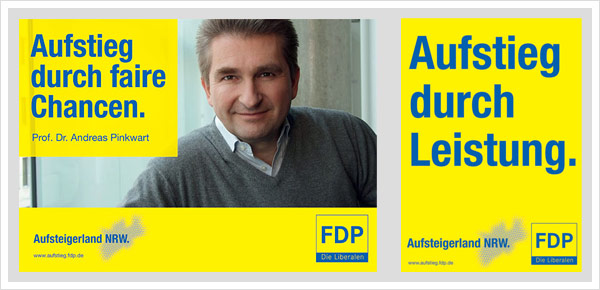 FDP Plakate NRW Wahl 2010