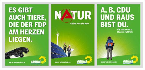 Grüne Plakate NRW Wahl 2010