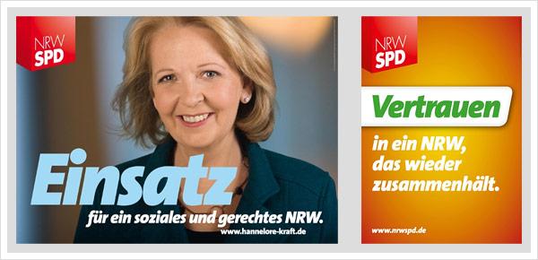 SPD Plakate NRW Wahl 2010