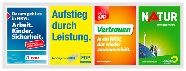 Plakate NRW Wahl 2010