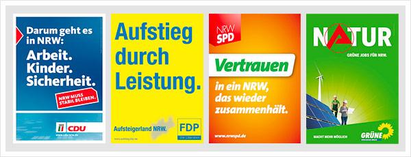 Plakate NRW Wahl 2010