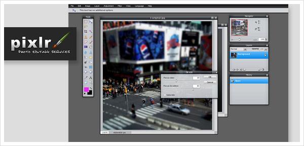 Pixlr Bildbearbeitung