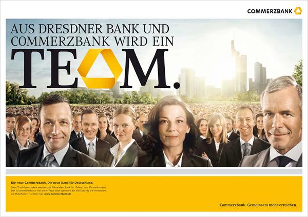 Commerzbank Team Anzeige