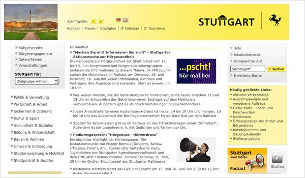 Stadtportal Stuttgart / Stuttgart.de