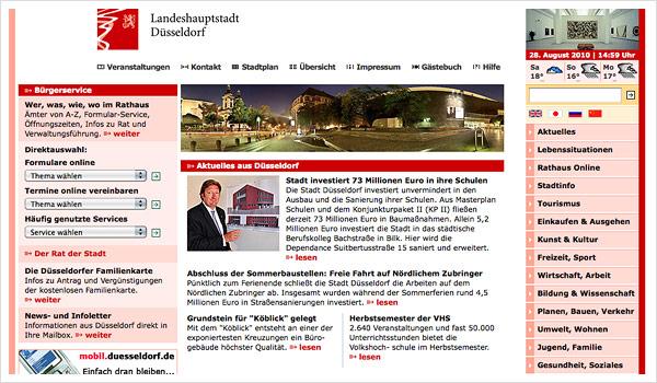 Stadtportal Düsseldorf / Duesseldorf.de
