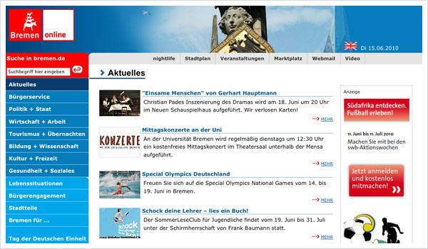 Stadtportal Bremen / Bremen.de