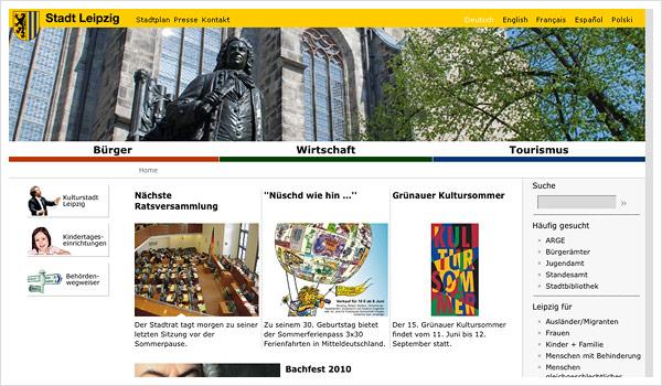 Stadtportal Leipzig / Leipzig.de