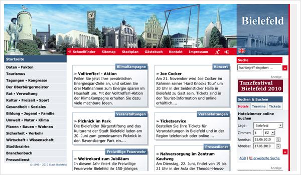 Stadtportal Bielefeld / bielefeld.de