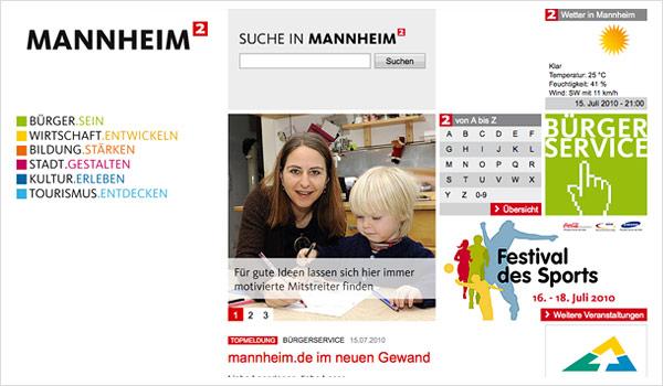 Stadtportal Mannheim / mannheim.de