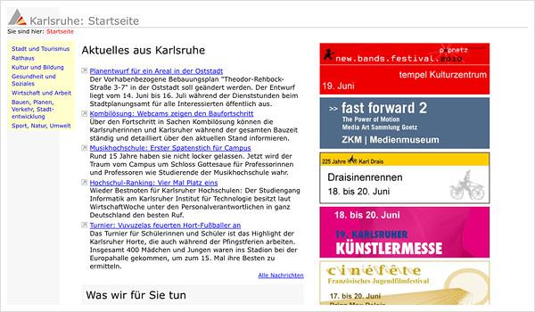 Stadtportal Karlsruhe / karlsruhe.de