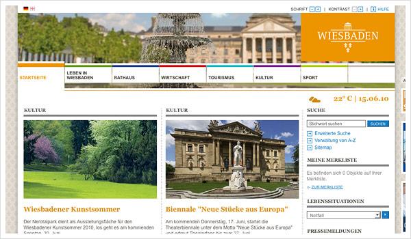 Stadtportal Wiesbaden / wiesbaden.de