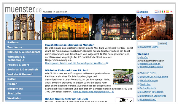 Stadtportal Münster / muenster.de