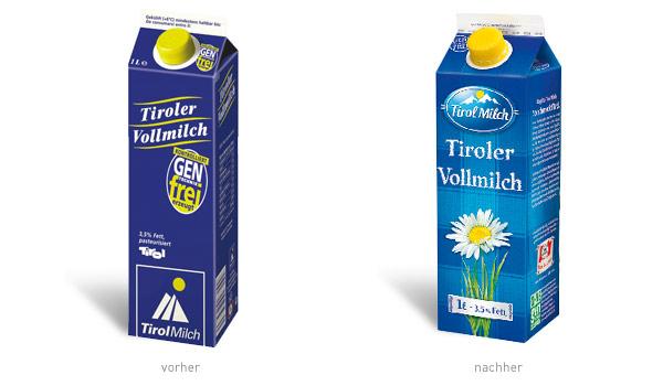 Tirolmilch Verpackung