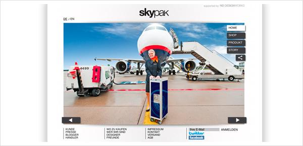 Skypak Designmöbel Flugzeugtrolley