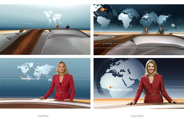 ZDF heute journal Design - vorher nachher