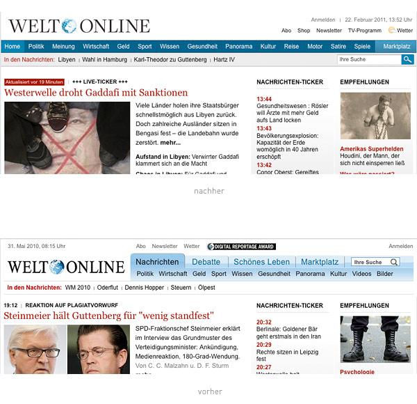Welt Online Header