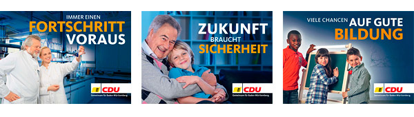 Wahlplakate CDU