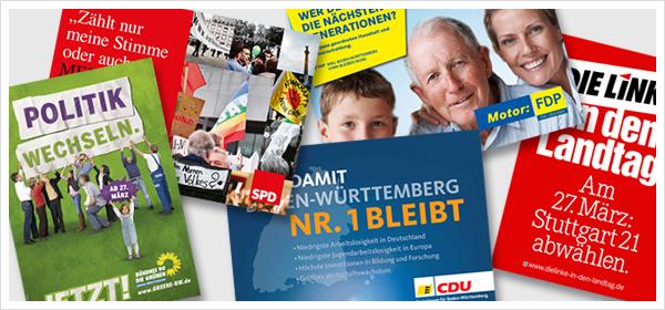 Wahlplakate Baden-Württemberg