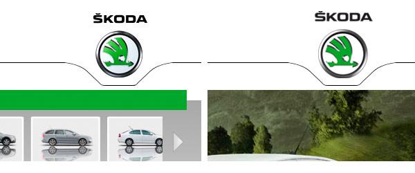 Skoda  unterschiedliche Logos