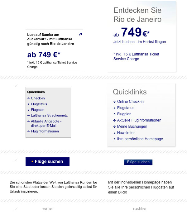 Lufthansa Website Details
