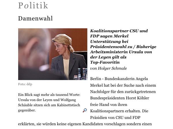 Berliner Zeitung Schriftbild
