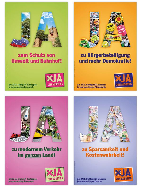 Stuttgart Volksabstimmung S21 Kampagnenmotiv