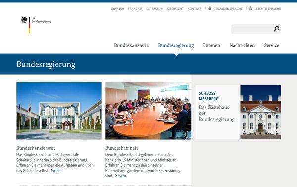 Website Bundesregierung